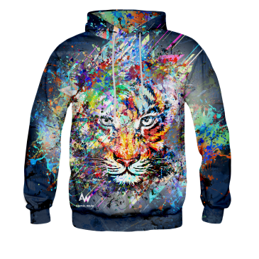 BLUZA Z KAPTUREM SPLASH TIGER