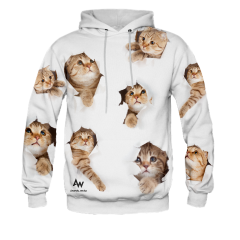 BLUZA Z KAPTUREM PEEPING CATS