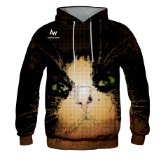 BLUZA Z KAPTUREM PIXEL CAT
