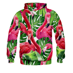 BLUZA Z KAPTUREM FLAMINGO JUNGLE