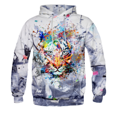 BLUZA Z KAPTUREM TIGER ART